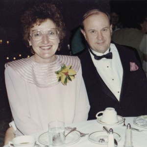 Char and Ray Maas at a Creative Circle banquet, circa 1988